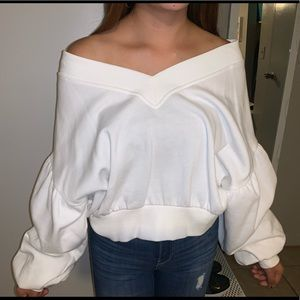 Forever 21 oversized off the shoulder sweater